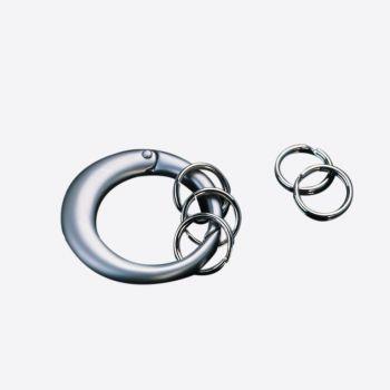 Point-Virgule ronde sleutelhanger met 5 mini-ringetjes