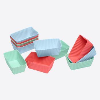 Lurch Flexiform 12 silicone brownievormen groen; blauw; rood 7.8x4.3x3.1cm