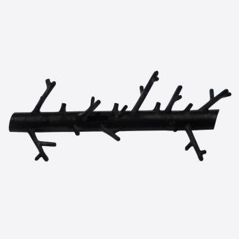 Bosign ophangbare houder 'Branch' uit metaal matzwart 31x5x12cm