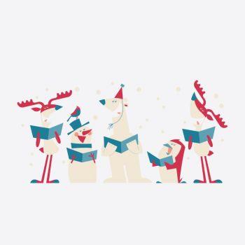Cookut Tatoo Eat set van 6 bordtattoos Kerstmis dieren