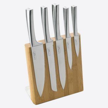 Jean Dubost magnetische messenblok uit bamboe met 5 messen