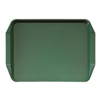 Cambro polypropyleen fastfood dienblad met handvatten groen 43x30cm