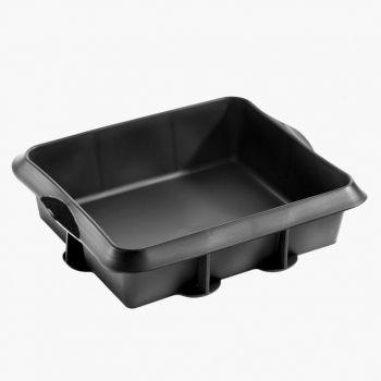 Lékué vierkante taartvorm uit silicone zwart 24x20x6.5cm