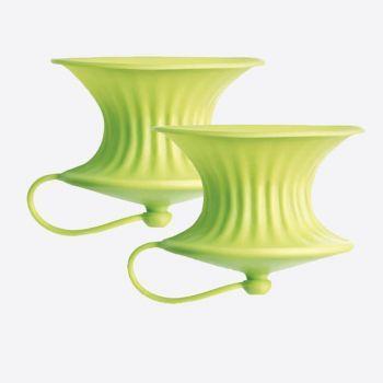 Lékué set van 2 citruspersen uit silicone groen Ø 8.3cm H 6.3cm