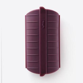 Lékué set van stomer uit silicone voor 1-2 personen aubergine en kookboek NL