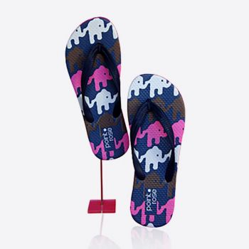 PointRose teenslippers Olifant