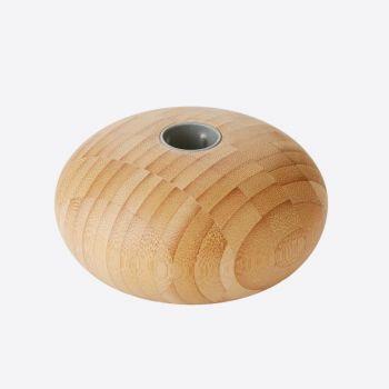 Point-Virgule kaarshouder uit bamboe voor dinerkaars ø 11cm H 5.5cm