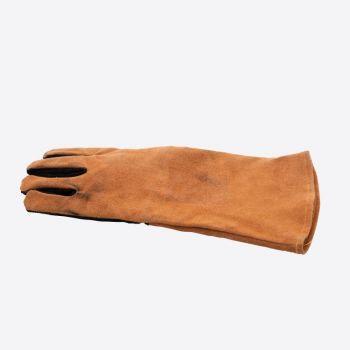 Point-Virgule barbecue handschoen links bruin en zwart leder 42x20cm