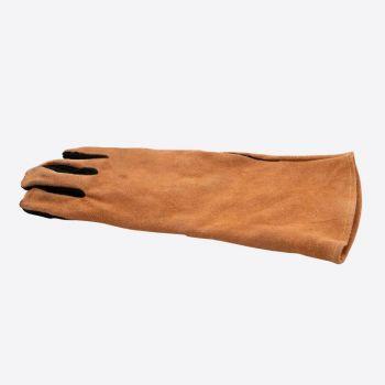 Point-Virgule barbecue handschoen rechts bruin en zwart leder 42x20cm