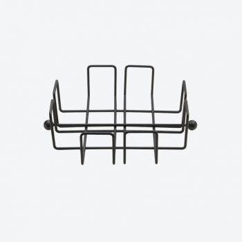 Point-Virgule Wire servettenhouder zwart 19.5x19.5x6cm