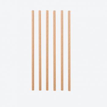 Point-Virgule set van 48 papieren rietjes bruin 19.5cm