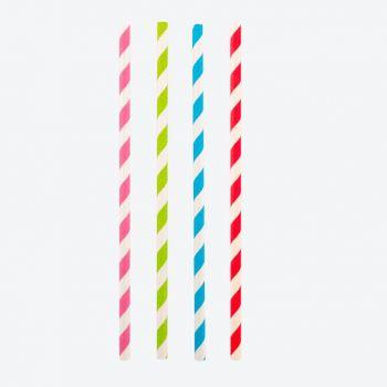 Point-Virgule set van 48 gekleurde papieren rietjes 19.5cm