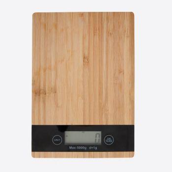 Point-Virgule digitale keukenweegschaal uit bamboe 5kg