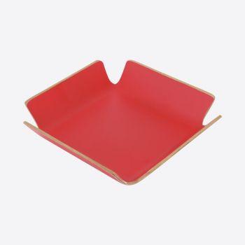 Point-Virgule servethouder rood 15x15x4cm