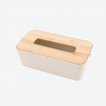 Point-Virgule zakdoekendoos uit bamboevezel gebroken wit 25.5x14x9cm