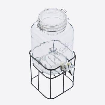Point-Virgule vierkante drankdispenser met metalen houder 3.6L (per 4st.)