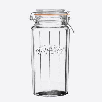 Kilner gefaceteerde glazen bokaal met beugelsluiting 1.8L