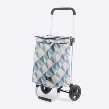 Rixx shopping trolley geometric pastelkleuren 30L