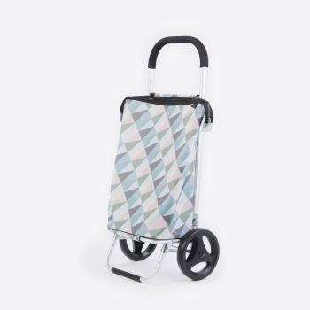 Rixx shopping trolley geometric pastelkleuren 38L