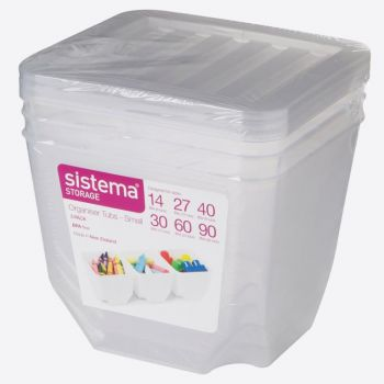 Sistema Storage set van 3 opbergdozen met deksel transparant 1.3L (per 6st.)