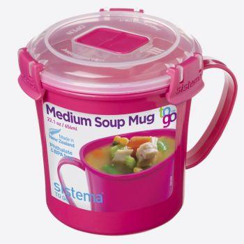 Sistema Microwave Colour soepmok roze 656ml (per 12st.)