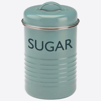 Typhoon Vintage doos voor suiker blauw ø 12cm H 19.5cm