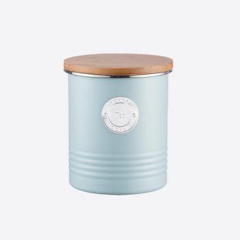 Typhoon Living voorraaddoos voor thee lichtblauw ø 12cm H 14cm