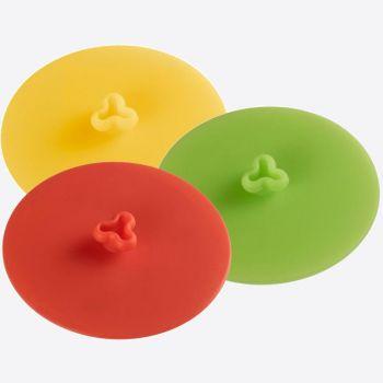 Westmark silicone glasdeksel rood; groen of geel ø 10cm (6 ass.)