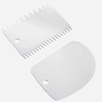 Westmark set van 2 deegschrapers uit kunststof wit 8.7x12.2x0.3cm