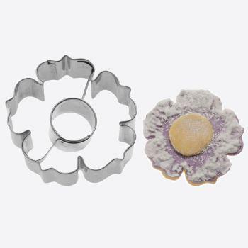 Westmark uitsteekvorm uit rvs 2D bloem 6x6x2.2cm