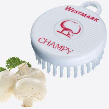Westmark Champy champignonborstel uit kunststof wit 7.8x6x2.7cm