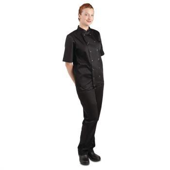 Whites Vegas unisex koksbuis korte mouw zwart XL