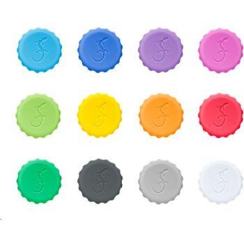 Lurch Bierfles Dop Herbruikbaar - Siliconen - Ø3 cm - Set van 12 Stuks - Multi Color