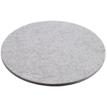 Daff Onderzetter - Vilt - Rond - 20 cm - Grey Mel. - Grijs