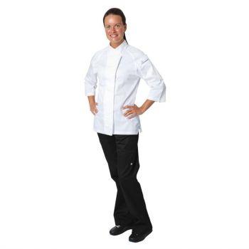 Chef Works Verona Cool Vent dames koksbuis wit met grijs L