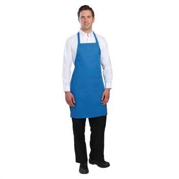 Chef Works halterschort blauw