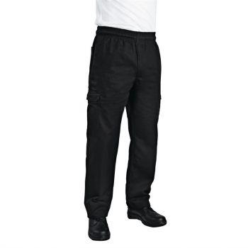 Chef Works unisex slim fit cargo broek zwart S
