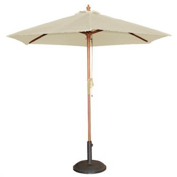 Bolero ronde parasol creme 2.5 meter