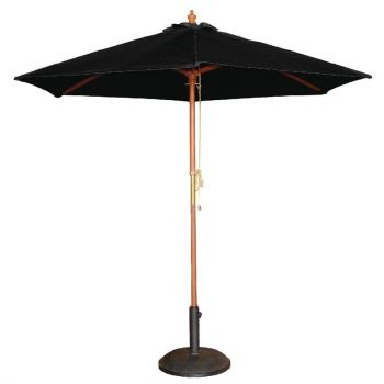 Bolero ronde parasol zwart 3m