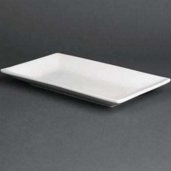 Olympia Whiteware rechthoekige serveerschalen 25x15cm