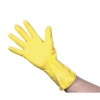 Jantex huishoudhandschoenen geel L
