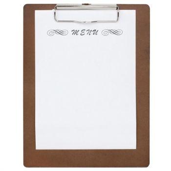 Olympia houten menu klembord A4