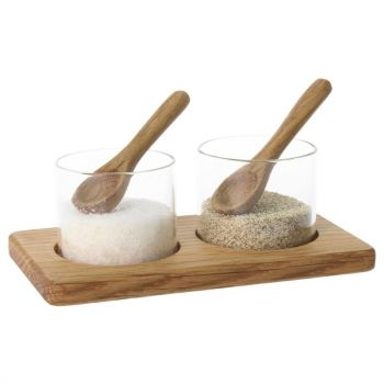 Olympia peper- en zoutpotjes en houder