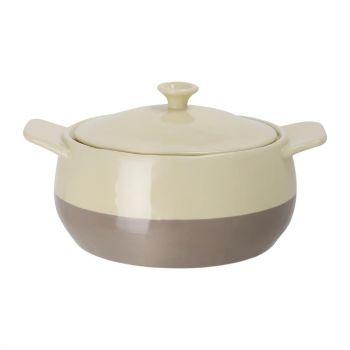 Olympia ronde braadpan crème en taupe 1.82L