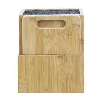 Vogue universeel houten messenblok en snijplank