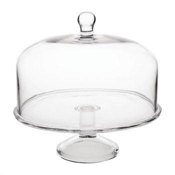 Olympia glazen taartstandaard