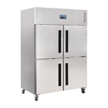 Polar G-serie Gastro 2-deurs koeling met gedeelde deuren 1200L