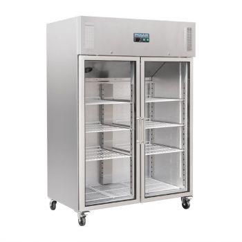 Polar G-serie Gastro 2-deurs koeling met glazen deuren 1200L