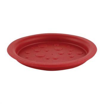 Roltex deksels voor kannen en glazen rood