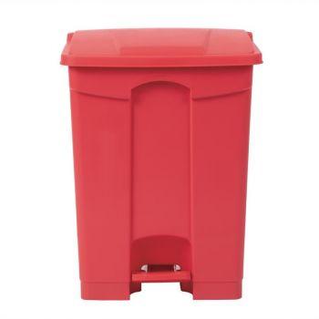 Jantex afvalemmer rood 65L
